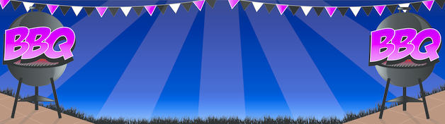 Midnight Bbq Personalised Banner
