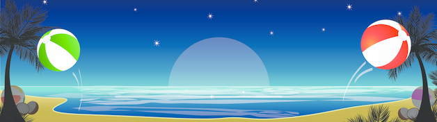 Midnight Beach Party Personalised Banner