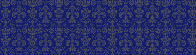 Blue Antique Pattern Personalised Banner