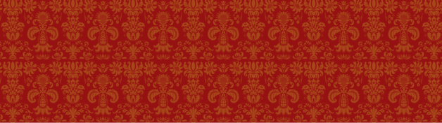 Red Antique Pattern Personalised Banner