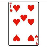 Seven Of Hearts Playing Card