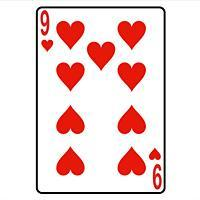 Nine Of Hearts Playing Card
