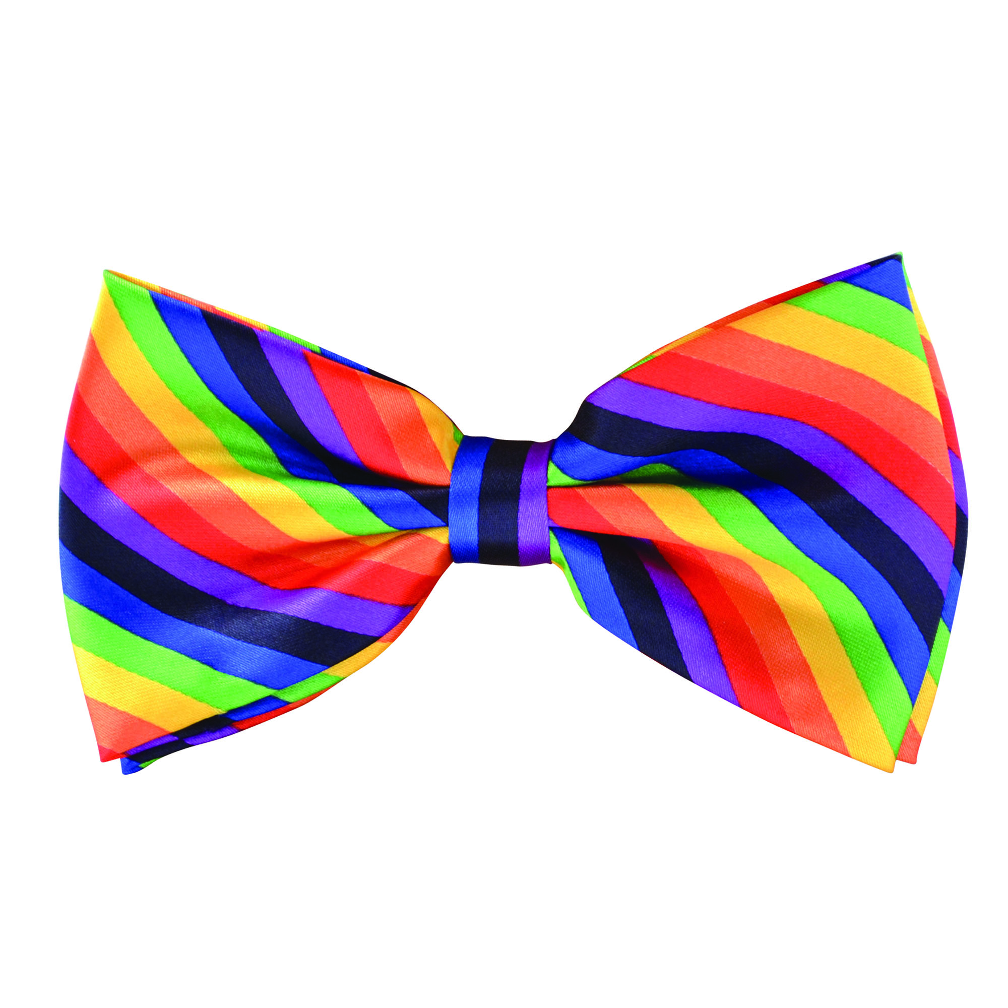Bow Tie Rainbow Coloured Adult
