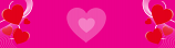Hot Pink Large Hearts Personalised Banner