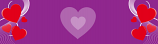 Purple Large Hearts Personalised Banner