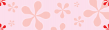 Pink Flower Power Personalised Banner