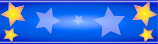 Royal Blue and Orange Star Personalised Banner