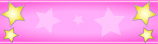 Pink and Gold Star Personalised Banner