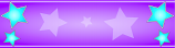 Purple and Blue Star Personalised Banner