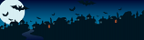 Halloween Blue Town Personalised Banner