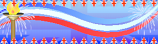 Bunting Wavy Lined Torch Jubilee Personalised Banner