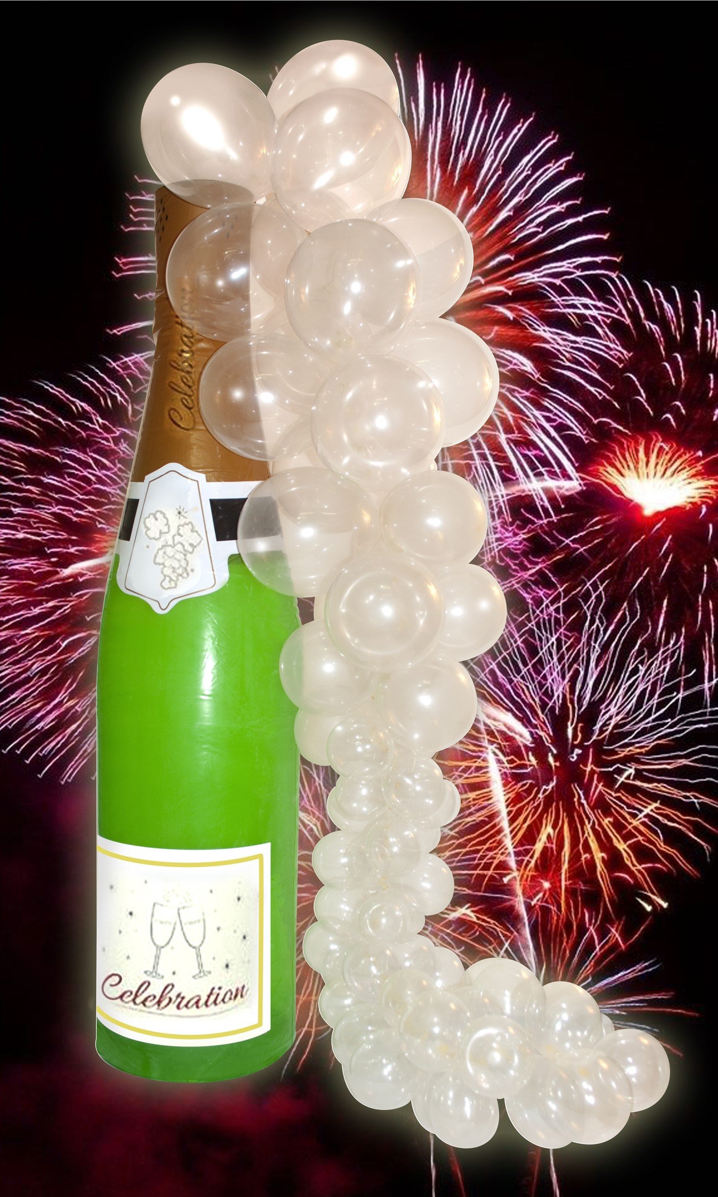 6 Ft Champagne Bottle Inflatable With Bubbles Kit